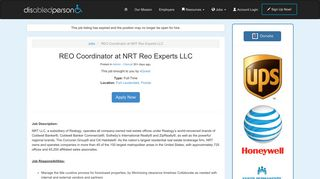 REO Coordinator at NRT Reo Experts LLC • Disabled Person
