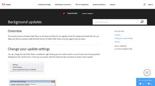 Check for Flash Player software updates ... - Adobe Help Center