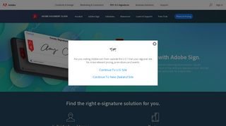 E-sign documents online, secure e-signature solutions   Adobe Sign