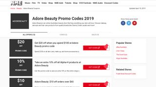 Adore Beauty Promo Codes & Coupons for February 2019 - Valid ...