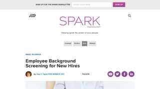 Employee Background Screening for New Hires - ADP