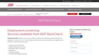 Pre Employment Screening | Background Checks | ADP UK