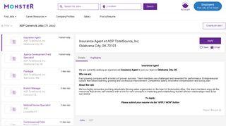 ADP Career Opportunities & Jobs | Monster.com