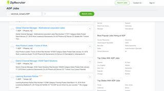 ADP Jobs, Career & Employment Opportunities | ZipRecruiter