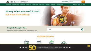 ACE Cash Express: Payday Loans & Cash Advances - Fast & Online