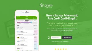 Pay Advance Auto Parts Credit Card with Prism • Prism - Prism Bills