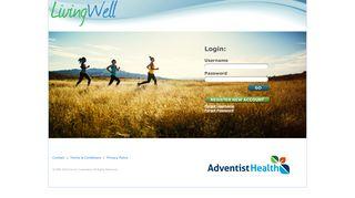 LivingWell website - Adventist Health