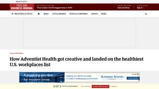 How Adventist Health got creative and landed on the healthiest U.S. ...