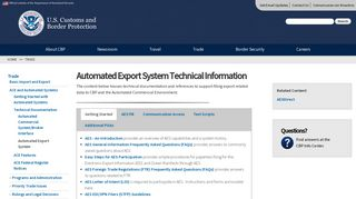 Automated Export System (AES) - Customs and Border Protection