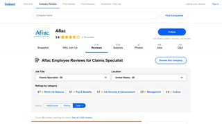 Working as a Claims Specialist at Aflac: Employee Reviews | Indeed ...