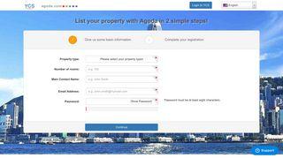 List your property - YCS - Agoda.com partner extranet