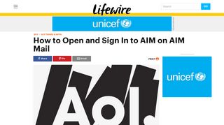 How to Sign In to AIM on AIM Mail - Lifewire