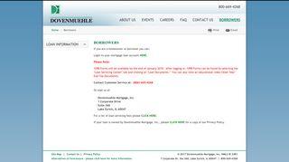 Borrowers   Dovenmuehle Mortgage