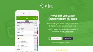 Pay Airnex Communications with Prism • Prism - Prism Bills