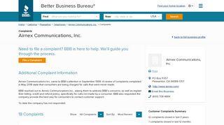 Airnex Communications, Inc. | Complaints | Better Business Bureau ...