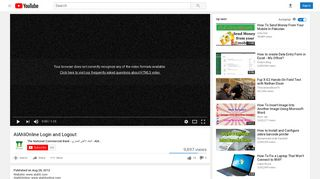 AlAhliOnline Login and Logout - YouTube