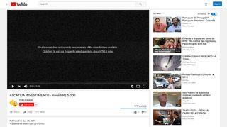 ALCATÉIA INVESTIMENTO - Investi R$ 5.000 - YouTube