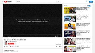 Sucesso na Alcateia Investimentos - YouTube