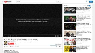 ALCATEIA INVESTIMENTOS APRESENTAÇÃO OFICIAL - YouTube