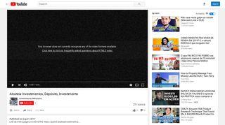 Alcateia Investimentos, Depósito, Investimento - YouTube