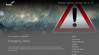 Emergency Alerts | Ready.gov