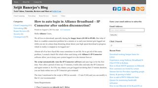 How to auto login in Alliance Broadband - IP Connector after sudden ...