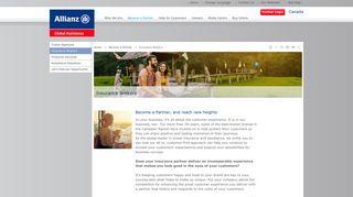 Allianz Global Assistance - Become a Partner - Insurance Brokers