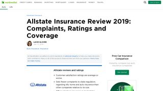 Allstate Insurance Review 2019: Complaints, Ratings and Coverage