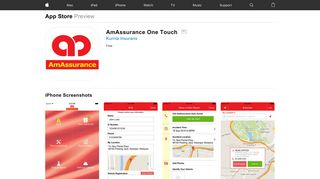 AmAssurance One Touch on the App Store - iTunes - Apple