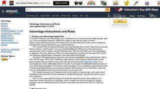 Amazon.com : Instructions & Rules