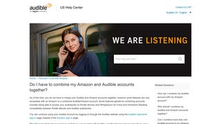 Do I have to combine my Amazon and Audible accounts together?