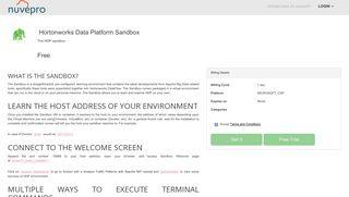 Hortonworks Data Platform Sandbox   Nuvepro