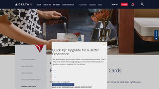 Delta American Express Credit Card : Delta Air Lines