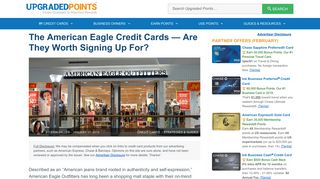 The American Eagle Credit Cards — Are They ... - Upgraded Points