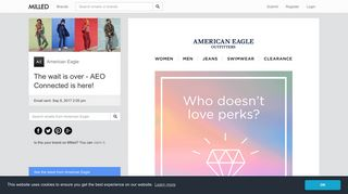American Eagle: The wait is over - AEO Connected is here! | Milled