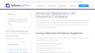 American Retirement Life Insurance Company   Medicare Health Plans
