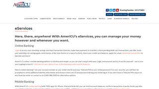 eServices – AmeriCU Credit Union