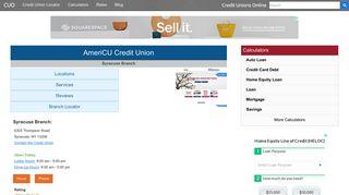 AmeriCU Credit Union - Syracuse, NY at 6303 ... - Credit Unions Online