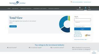Log In - Ameriprise Financial