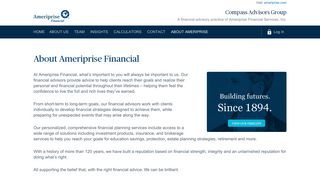 About Ameriprise - Compass Advisors Group | Ameriprise Financial