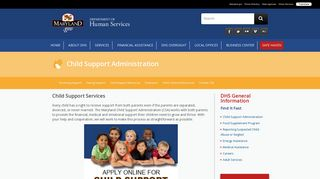Child Support Services - Maryland Department of Human Services