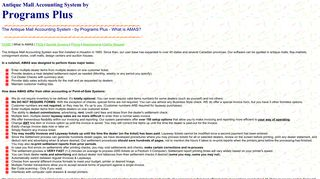 What is AMAS - Antique Mall Software - Software for Antique Malls ...