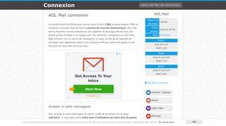AOL Mail connexion - se connecter à ma boite mail AOL   Connexion