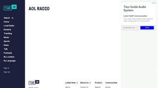 AOL Radio   Free Internet Radio   TuneIn