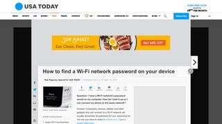 How to find a Wi-Fi network password on your device - USA Today