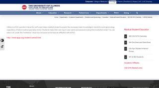 UWISE Website – Chicago Medicine