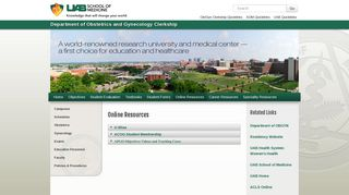 UAB - Department of Obstetrics and Gynecology Clerkship - Online ...