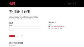 Log in - myAPI Portal