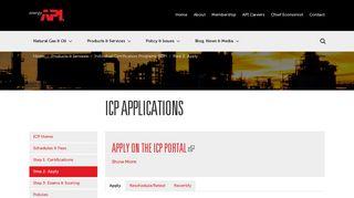 API   ICP Applications