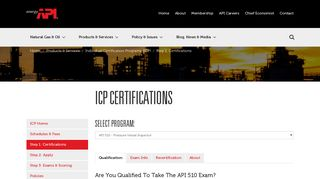 API   ICP Certifications